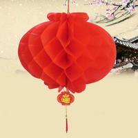 Neues Jahr-Weihnachtsdekoration-wasserdichte rote chinesische Papierlaternen für draußen hängende Festival-Laterne geben Verschiffen ZA4921 frei