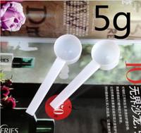 Cheap Wholesale1000pcs Профессиональный Белый Пластик 5 Г 5 Г Совки / Ложки Для Пищевой / Молоко / Стиральный порошок / Медицина Измерения