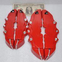 4Pcs RED 3D-Bremssattel-Abdeckungen Geprägte Brem Fit Zange Abdeckungen Auto Universal Disc Bremssattel-Abdeckungen vorn hinten