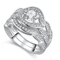 2017 новый Arrilval горячей Моды ювелирные изделия 10KT белого золота заполнены Топаз CZ Алмаз драгоценных камней обручальное обручальное обручальное кольцо для новобрачных набор размер 5-11