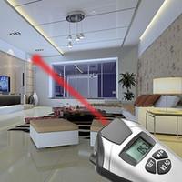 Cinta métrica electrónica Medidor de distancia ultrasónico Puntero láser