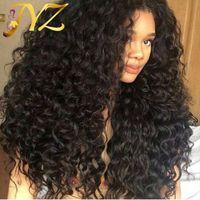 Spitzefrontperücken 130% Dichte Schweizer Spitze Hand gebunden Reine Farbe Tiefe lockige volle Spitze Perücken Brasilianisches indisches Malaysisches peruanisches Haar