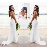 Romantic Lace Mermaid Wedding Dresses Sweetheart Open Back C...