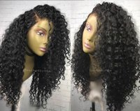Deep wave pre plucked hairline cheap lace front wigs Malaysi...