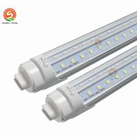25pcs V 모양의 LED 튜브 T8 8FT 8 피트 회전 R17D 72W LED 형광 전구 튜브 램프 미국 주식