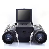 المهنية 12x32 hd مجهر تلسكوب كاميرا رقمية 5 ميجابيكسل كاميرا رقمية 2.0 بوصة tft عرض كامل hd 1080 وعاء تلسكوب