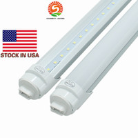 R17D 8ft T8 Tubo de luz LED color blanco frío 6000K 45W SMD 2835 Tubos fluorescentes LED Bombillas AC 85-265V 20-pack