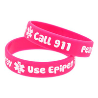 1PC Medical Alert! Peanut Allergy Silicone Wristband For Chi...