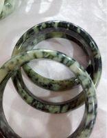 Hohe Qualität 100% natürliche Jade Jadeit-Armband-Armbänder 56-60mm D00813