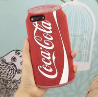 3D Coca cola luxury bling red Soft Silicone phone case cover...