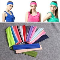 Candy Color Vogue Mulheres Yoga Sport Headband Simple Hairband Elastic 20 * 5cm Elastic Headband Yoga Yoga Headbands 2000PCS YYA196