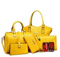 TOP quality 6pcs lot Women Ms. girl embossed handbags should...