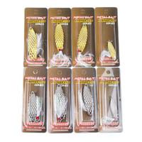 Sıcak Atificial Metal Kaşık Balıkçılık Yemler 5g 10g 15g 20g Gümüş / Altın Spinnerbaits VIB Bıçakları cazibesi Spinner yem