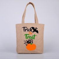 Burlap Hallween Candy Gift Sack Treat or Trick 6 Styles Pump...