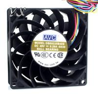 Novo e Original DB09225B48S 48 V 0.29A 4 fios termostato vem com um ventilador de esfera do sensor de temperatura para AVC 92 * 92 * 25mm