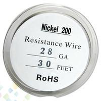 Saf Nikel Ni200 Tel Sıcaklık Kontrol Tel 30 Ayaklar 20 22 24 26 28 30 32 Atomizer TC Mod DHL için Ölçer Ücretsiz