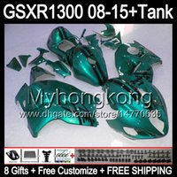 8gifts For SUZUKI Hayabusa GSXR1300 08 15 GSXR-1300 glossy cyan 14MY134 GSXR 1300 GSX R1300 08 09 10 11 12 13 14 15 Fairing glossy cyan Kit
