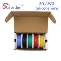 30m 20AWG Flexible Silicone Wire Cable 5 color Mix box 1 box...