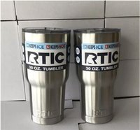 RTIC Copos Tumblers Rambler travel Mugs 30 oz 20oz Cup Stainless Steel Sharp como YT Cooler Bilayer Isolamento Canecas
