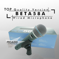 무료 배송! 최고 품질 버전 Beta58a 보컬 가라오케 핸드 헬드 다이나믹 유선 마이크 BETA58 Microfone Mike Beta 58 A Mic