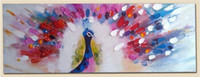 Colorful Peacock Spread Tail Picture Canvas Painting for Wal...