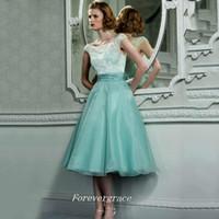 Zarif Ucuz Nane Gelinlik Elbise Bir Çizgi Dantel Üst Organze Onur Elbise Düğün Misafir Elbisesi Özel Yapılan Artı Boyutu