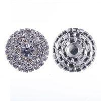 50 stücke 25mm runde strass silber button flatback dekoration kristall schnallen für baby haarschmuck