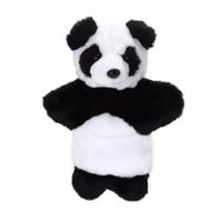Boneca de pelúcia bonito fantoche de mão bebê sono história acessório mão jogo toy adorável panda pai-kids interação boneca fantoche de mão brinquedo
