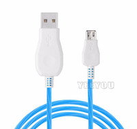 Flowing Moving Light LED Micro USB Cable Durable Tinning Hig...