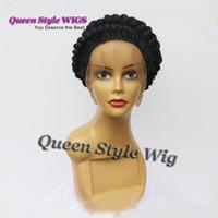 Increíble peluca de encaje negro peluca llena del cordón peluca llena del cordón Peluca de encaje completa afroamericana personalizada para mujeres negras / blancas
