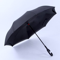 Umbrella Inside Out Reverse Windproof Folding Parasol C Shap...