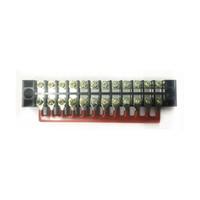10 PCS TB1512 / TBD-15A 12 Posição Pré Isolado Tipo Garfo Terminal TB Conexão Tira Barreira Tira Jumper Conector vermelho