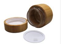 envio 10pcs livres 50g frascos de creme de bambu, 50 ml de bambu frasco cosmético dentro recipiente de lata embalagem de garrafas de vidro tanque