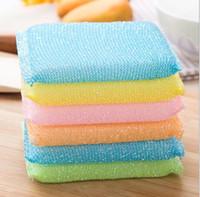 + New kitchen ajudante limpo multicolor non stick óleo de limpeza de limpeza esponjas de limpeza esponja de limpeza mais 4 pcs / pack