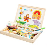 New Arrival Drawing Writing Board Magnetic Puzzle Double Eas...