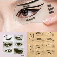 10pcs / set Beauty Cat Eyeliner Stencil Smokey Eye Stencil Template Shaper Smokey Eye Eyeliner Макияж Инструмент для подводки для глаз Шаблон KKA2447