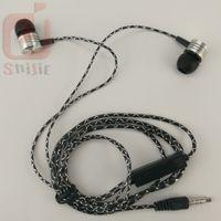 Cobwebbing Reticulate Fine Lines Kopfhörer mit Mikrofon Metallkopf Hörmuschel Noise Cancelling Kopfhörer mit Mikrofon 6 Farbe 1000ps / lot