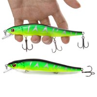 14cm 23g Fishing Lure Minnow Hard Bait with 3 Fishing Hooks ...