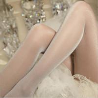 Тонкий блестящий серебристый яркий шелковые колготки sexy был тонкий прозрачный анти-крюк Micro-flash белый свет жемчужные чулки