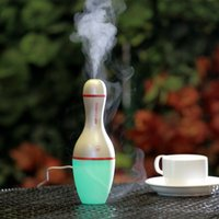 Cute Bowling Humidifier with Colorful LED light Aromatherapy...