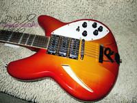 Cherry Burst 12 cuerdas 3 pastillas Guitarra Eléctrica 325 330 Guitarra Mayorista de Alta Calidad A12345