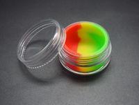 7ml klare Acrylwachs-Konzentratbehälter, Plastikbehälter mit Silikon innerem Antihaftsilikon Abtupfen BHO Hasch Öl-trockene Kraut-Vorratsgläser