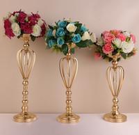 웨딩 소품 경로 골드 도금 철 왕관 화병 테이블 화병 유럽 스타일의 꽃 도자기 단계 마스터 WQ15