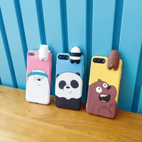 Cute 3D toys bears brothers phone Cases For iphone 6 6s 6plu...