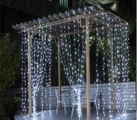 3M x 3M 300 LED luce di nozze ghiacciolo luce di Natale LED stringa fata lampadina luce ghirlanda festa di compleanno decorazione cortina da giardino