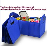 Oxford Kumaş Araba gövde depolama organizer3 Bölme Katlanabilir Araba Trunk Organizer Oto Depolama sıcak tutmak Ile Çanta Karton
