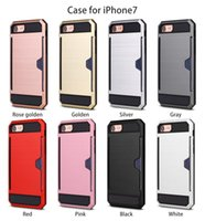 Iphone case Insert card metal wire- drawing cell phone covers...