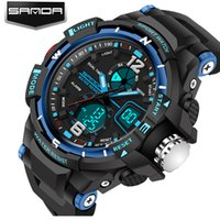 New Fashion SANDA Brand Men Children Sports Watches LED Digi...