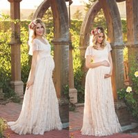 Boho Summer Lace Wedding Dresses 2017 Romantic Garden Gardens Bohemian Cap  Sleeves Long Bridal Gowns Maternity Plus Size DressesWholesale Bohemian Maternity Wedding Dresses   Buy Cheap Bohemian  . Plus Size Maternity Wedding Dresses. Home Design Ideas
