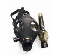 Máscara de gas de silicona Bong negro Bong de silicona Cráneo Dab Rig Rig Bongs para hierba seca